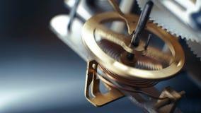 Relojes mecánicos giratorios de los engranajes Reloj de péndulo 4K almacen de video