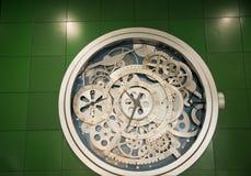 Relojes mecánicos transparentes Foto de archivo