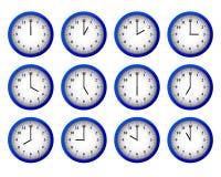 Relojes modernos fijados Fotografía de archivo libre de regalías