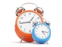Relojes retros Foto de archivo libre de regalías
