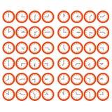Relojes rojos de la historieta ilustración del vector