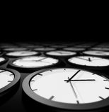 Relojes sin fin Fotografía de archivo libre de regalías
