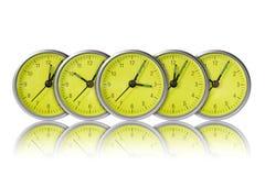 Relojes verdes Fotos de archivo