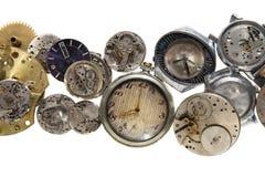 Relojes viejos Foto de archivo libre de regalías
