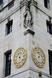 Relojes viejos de la ciudad Imagen de archivo libre de regalías
