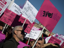 ReLOVEution. The femminist and gay sexual revolution taking action in Roma Royalty Free Stock Images