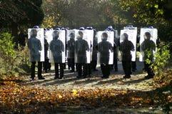 Relpolitie-eenheid, stad het controleren misdaad en asociaal gedrag stock afbeelding