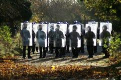 Relpolitie-eenheid, stad het controleren misdaad en asociaal gedrag royalty-vrije stock afbeelding