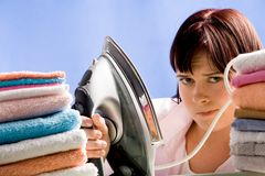 Reluctant to iron Stock Images