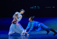 """Reluctant to leave the children-Dance drama """"The Dream of Maritime Silk Road"""". Dance drama """"The Dream of Maritime Silk Road"""" centers on the plot Royalty Free Stock Image"""