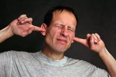 Relutância ouvir-se Foto de Stock