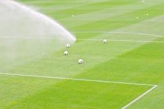 Relvado da irrigação foto de stock royalty free