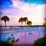 Relxation à la piscine Photos stock