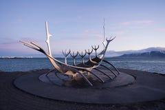 Relyavik landmark. The monument at reykjavik bay Royalty Free Stock Photos