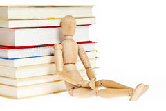 Relying on the book sitting puppet Stock Photography