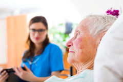 Relying On Home Caregiver Stock Images