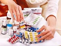 Remède de fixation de main. Photographie stock libre de droits