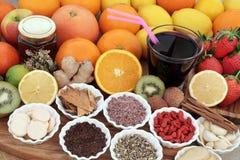 Remède de nourriture biologique et de boissons photos libres de droits