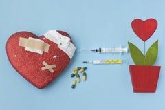 Remède et greffe de coeur Photographie stock libre de droits