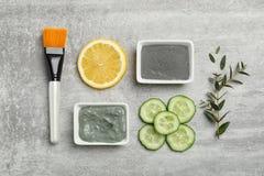 Remèdes efficaces faits maison d'acné photo libre de droits