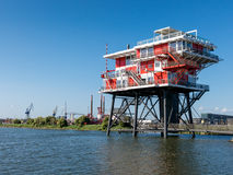 REM-island restaurant in Amsterdam, Holland Royalty Free Stock Photography