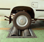 Rem testend systeem van auto royalty-vrije stock fotografie
