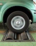 Rem testend systeem van auto stock afbeelding