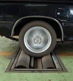 Rem testend systeem van auto stock afbeeldingen