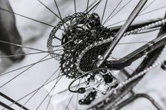 Rem van de de kettingsschijf van het fiets de achtertoestel en derailleur royalty-vrije stock foto