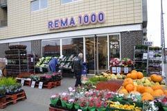 REMA-MATMARKNAD 1000 Arkivbilder