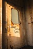 Remaches de la puerta de cabina de la nave Imágenes de archivo libres de regalías