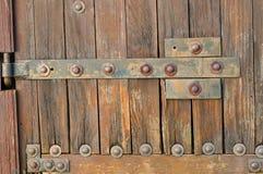 Remaches en el door_2 Imagen de archivo libre de regalías
