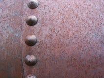 Remaches y metal oxidados Fotografía de archivo libre de regalías