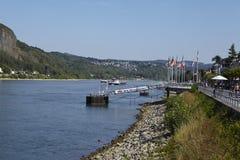 Remagen - deptak pod rzecznym Rhine Zdjęcie Royalty Free
