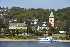 Remagen - flodRhen Royaltyfri Bild