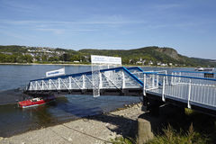 Remagen - Jetty at Rhine Stock Photo