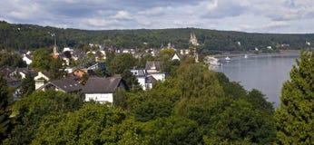 Remagen och Rhinen i Tyskland arkivbilder