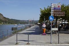 Remagen - Promenade beneath the river Rhine Royalty Free Stock Image