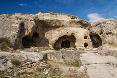 Remain of the ancient rock cave city of Uplistsikhe Stock Images