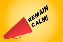 Remain Calm! concept Royalty Free Stock Photos
