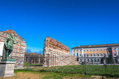 Remain of Roman Walls in Turin, Italy Royalty Free Stock Images