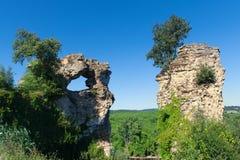 Remain ruin at French Dordogne. Remain ruin near French river Dordogne Stock Photo