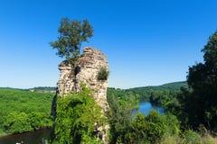 Remain ruin at French Dordogne. Remain ruin near French river Dordogne Stock Photos