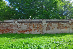 The remained fencing fragments of invalid Voskresensky convent of 16th century in Torzhok city, Russia Royalty Free Stock Image