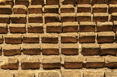 Remaining of brick wall Stock Images