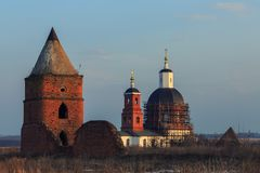 Remaining buildings in the territory of the Saburov fortress royalty free stock photography