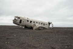 Remaining of crashed airplane Stock Images