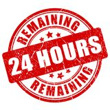 Remaining 24 hour stamp. Vector illustration Stock Photography