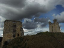 Helmsley Castle ruins Stock Photography
