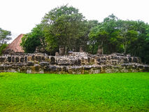 A remaining mayan ruin at San Gervasio royalty free stock images